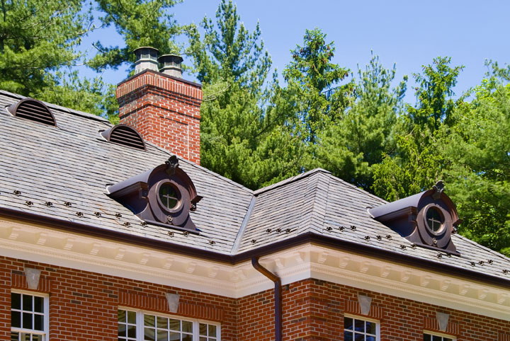 Slate Roof with Decorative Detail