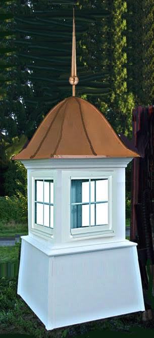 Copper Bell Roof Cupola with Finial